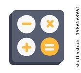 calculator icon logo. ...