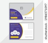 real estate postcard design...   Shutterstock .eps vector #1986571097