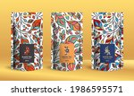 colorful tea packaging design... | Shutterstock .eps vector #1986595571