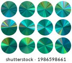 turquoise round metallic...