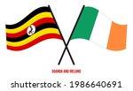 uganda and ireland flags... | Shutterstock .eps vector #1986640691