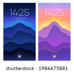 smartphone lock screens  mobile ... | Shutterstock .eps vector #1986675881