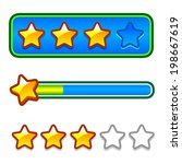 progress bar with stars for...