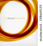 elegant swirl shaped modern... | Shutterstock .eps vector #198669155