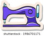 hand drawn vintage sewing...   Shutterstock .eps vector #1986701171