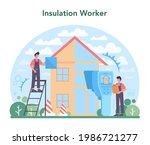 insulation concept. thermal or...   Shutterstock .eps vector #1986721277