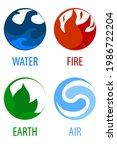 4 Elements Nature  Round Icons...