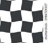 wavy checkered seamless pattern....   Shutterstock .eps vector #1986724337