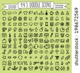 vector doodle icons universal... | Shutterstock .eps vector #198672569