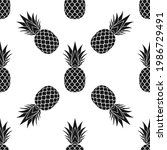 pineapple seamless pattern....   Shutterstock .eps vector #1986729491