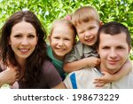 portrait of happy family in the ... | Shutterstock . vector #198673229