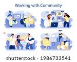 community working concept set.... | Shutterstock .eps vector #1986733541