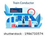 train conductor. railway worker ...   Shutterstock .eps vector #1986733574