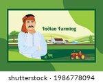 illustration of indian farming... | Shutterstock .eps vector #1986778094