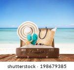 concept of summer travelling... | Shutterstock . vector #198679385