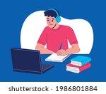 online class  e learning ...   Shutterstock .eps vector #1986801884
