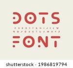 tribal futuristic alphabet...   Shutterstock .eps vector #1986819794