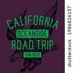 california oceanside eagle road ... | Shutterstock .eps vector #1986826157
