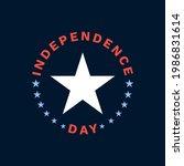 independence day emblem logo.... | Shutterstock .eps vector #1986831614
