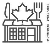 canadian food  square line... | Shutterstock .eps vector #1986872867