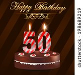 50th,anniversary,art,background,birthday,bow,bright,cake,candle,card,celebration,cheerful,congratulation,day,event