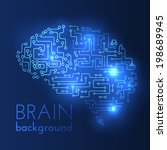 technological brains vector... | Shutterstock .eps vector #198689945