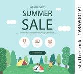 summer shopping event... | Shutterstock .eps vector #1986900191