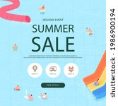 summer shopping event... | Shutterstock .eps vector #1986900194
