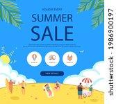 summer shopping event... | Shutterstock .eps vector #1986900197