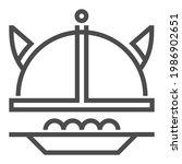 swedish cuisine  square line... | Shutterstock .eps vector #1986902651
