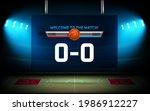begin of basketball match...   Shutterstock .eps vector #1986912227