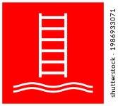 Embarkation Ladder Symbol Sign  ...
