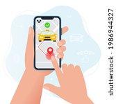 online taxi service concept.... | Shutterstock .eps vector #1986944327