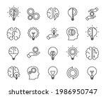brainstorm icons set....   Shutterstock .eps vector #1986950747