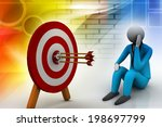 3d illustration of archery... | Shutterstock . vector #198697799
