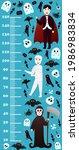 halloween height chart for kids ... | Shutterstock .eps vector #1986983834