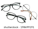 optical vintage glasses...   Shutterstock . vector #198699191