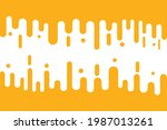 abstract yellow mustard rounded ... | Shutterstock .eps vector #1987013261