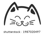 the head of a cat with narrowed ...   Shutterstock . vector #1987020497