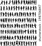 children silhouettes | Shutterstock .eps vector #198706847