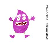 cartoon funny creature | Shutterstock .eps vector #198707969
