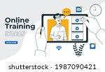 online class  e learning ...   Shutterstock .eps vector #1987090421