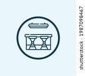 restaurant counter icon.... | Shutterstock .eps vector #1987098467