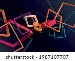 abstract 3d geometric shape of... | Shutterstock .eps vector #1987107707