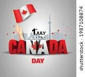 happy canada day. vector... | Shutterstock .eps vector #1987108874
