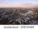 tower bridge and canary wharf ... | Shutterstock . vector #198714485
