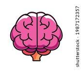 brain idea genius icon isolated   Shutterstock .eps vector #1987172357