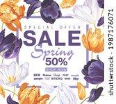 spring sale banner template...   Shutterstock .eps vector #1987176071