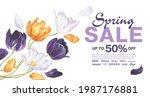 spring sale banner template...   Shutterstock .eps vector #1987176881