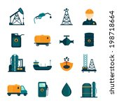 oil industry drilling refining... | Shutterstock .eps vector #198718664